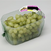 grapes - plastic tray with tubular extruded net
