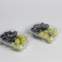 grapes - plastic tray with lid